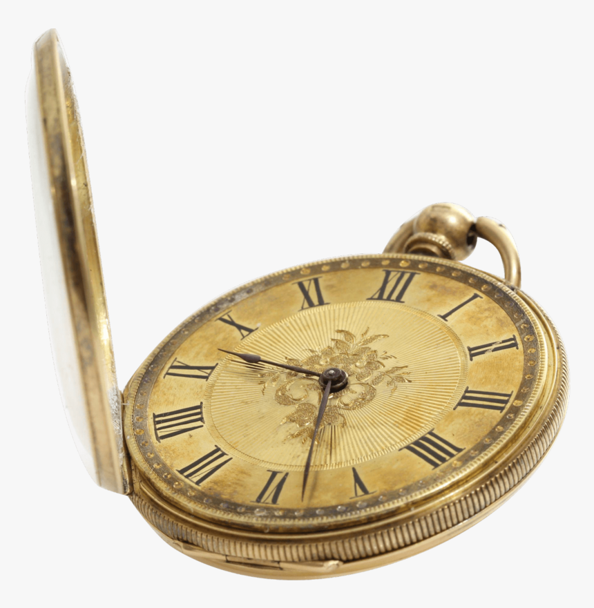 Victorian Gold Open Pocket Watch - Pocket Watch Transparent Background, HD Png Download, Free Download