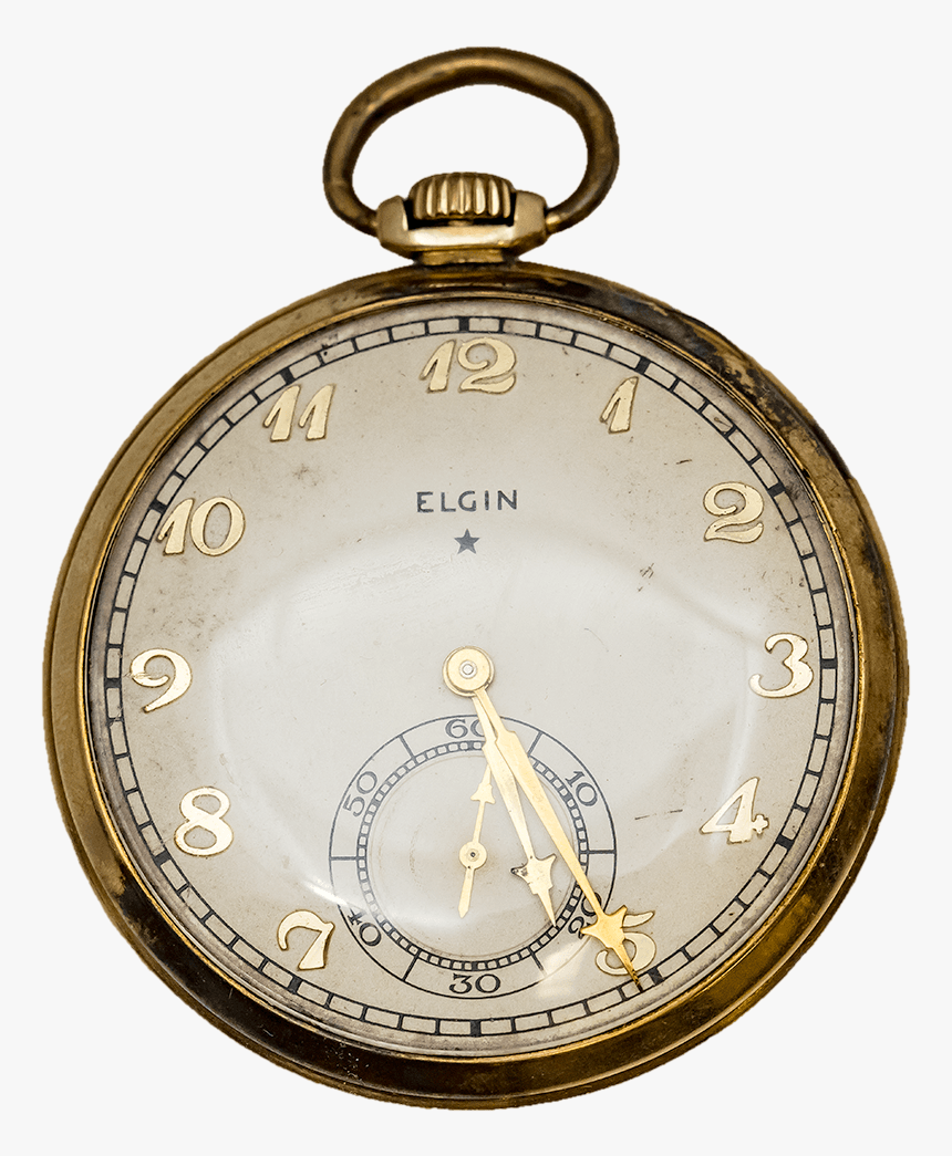 1933 Elgin Gold Filled Pocket Watch - Pocket Watch, HD Png Download, Free Download