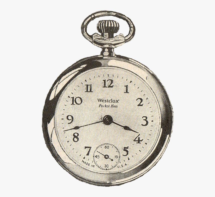 Transparent Vintage Pocket Watch Png, Png Download, Free Download