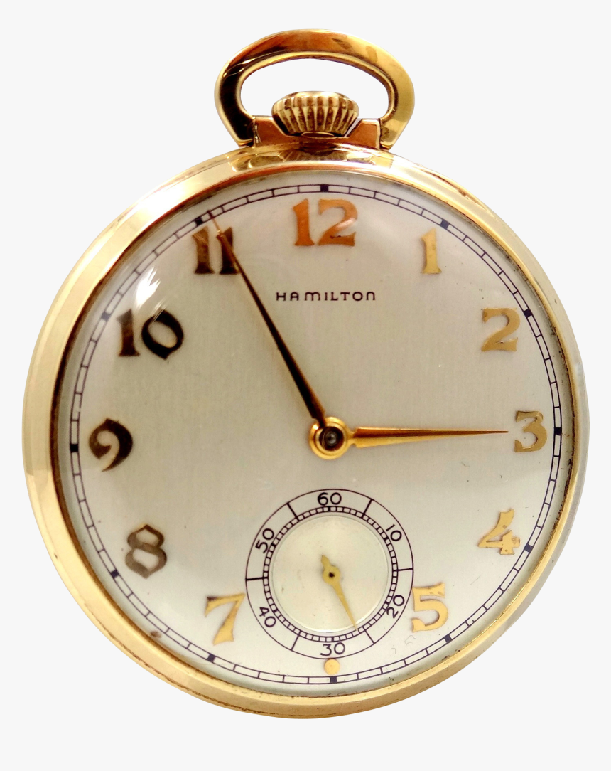 Hamilton 917 14k Gold Pocket Watch, HD Png Download, Free Download