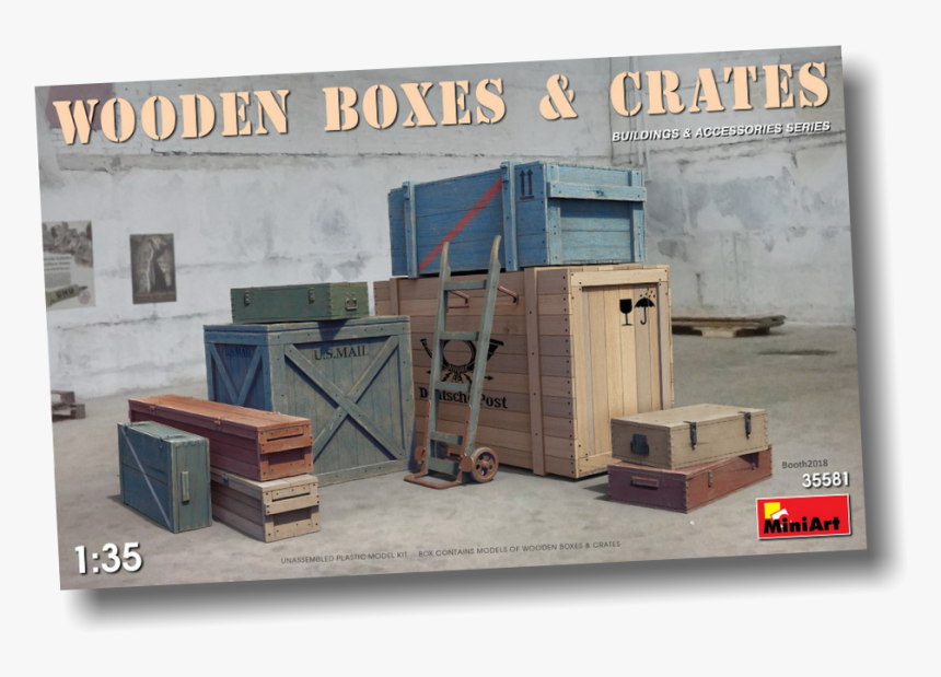 Transparent Wooden Crate Png - Wooden Boxes & Crates Miniart, Png Download, Free Download