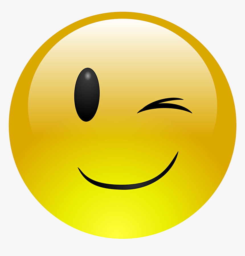 Smiley Clipart Emoji - Free Wink Emoji, HD Png Download ...