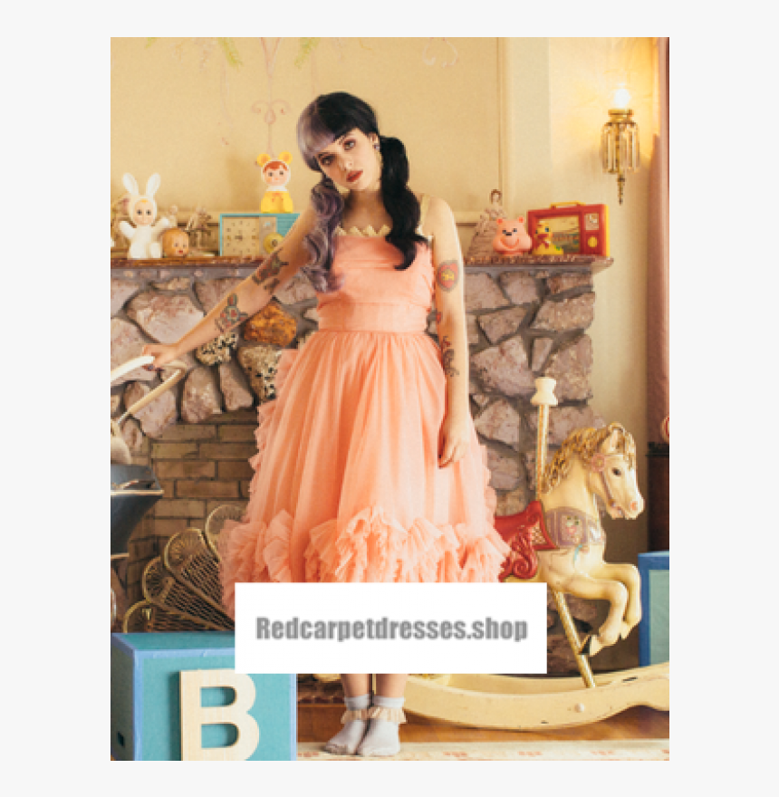 Melanie Martinez Peach Cocktail Party Homecoming Prom - Melanie Martinez Prom Dress, HD Png Download, Free Download