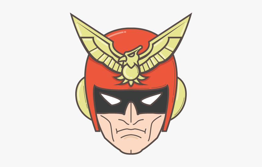 Captain Falcon Head Png, Transparent Png, Free Download