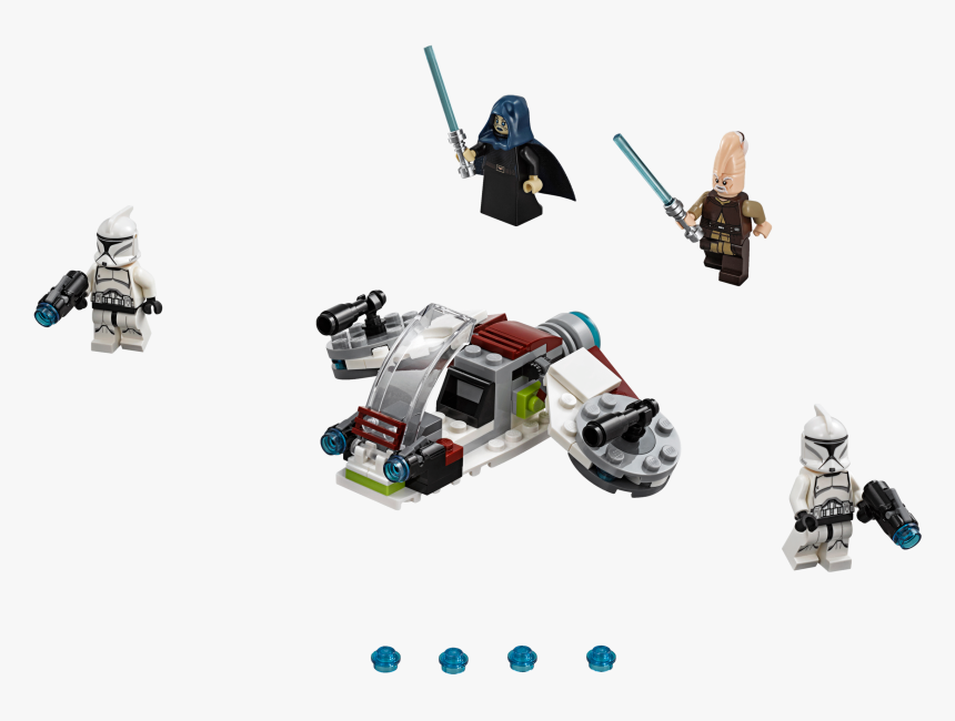 Lego Star Wars Jedi And Clone Trooper Battle Pack 75206, HD Png Download, Free Download