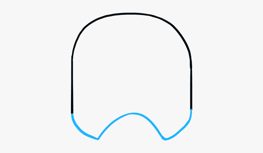 How To Draw Stormtrooper Helmet - Circle, HD Png Download, Free Download