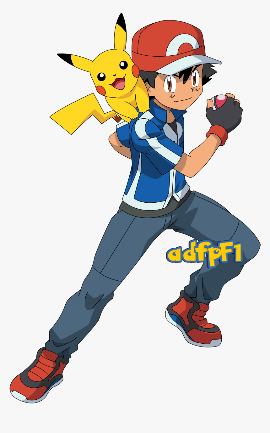 Vector Transparent Download Ash Drawing Easy - Ash Y Pikachu Pokemon Xy, HD Png Download, Free Download