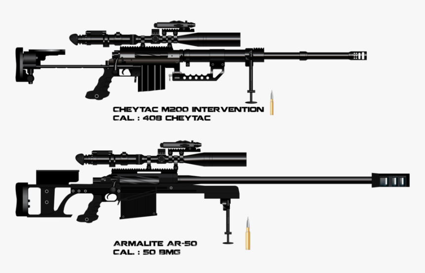 Armalite Ar Et - 50 Cal Cheytac M200 Intervention, HD Png Download, Free Download