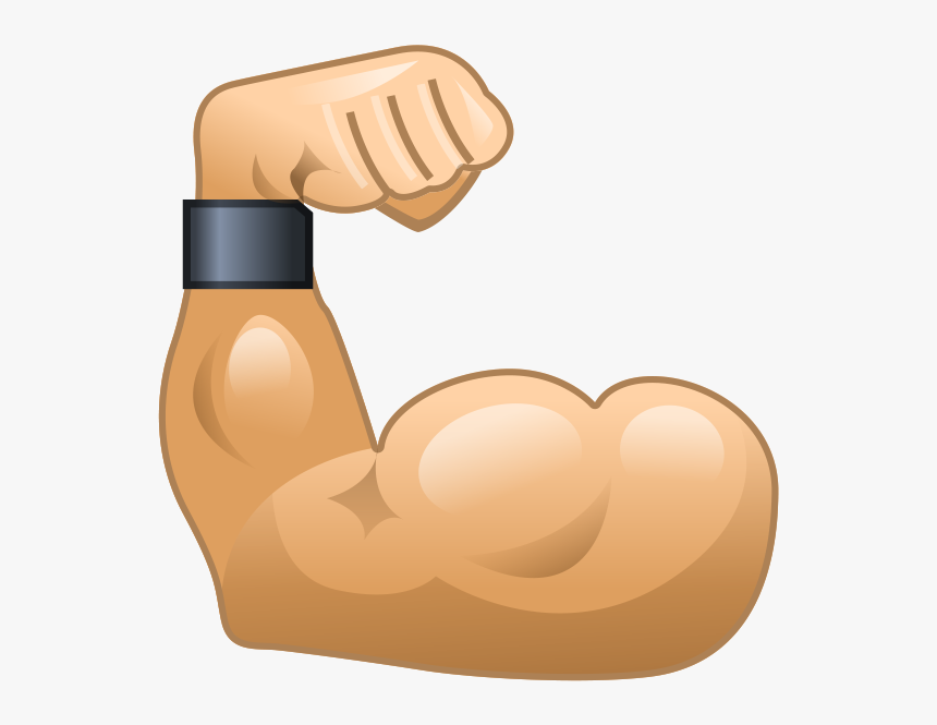 Muscle Png Image - Muscle Arm Emoji, Transparent Png, Free Download