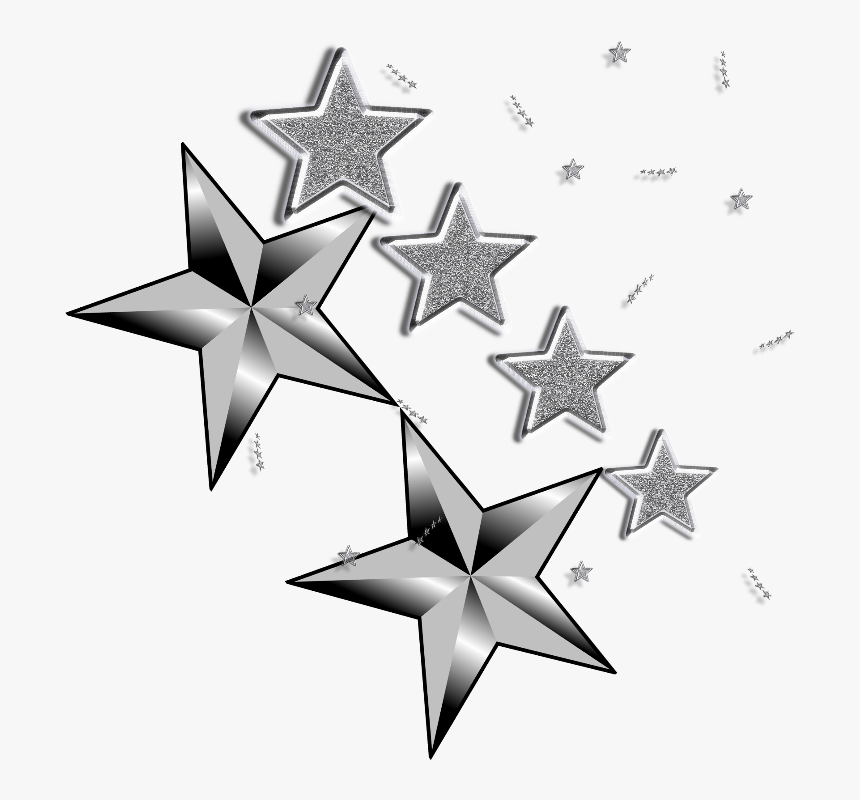 #mq #star #stars #silver #glitter #glittery - Silver Glitter Stars Image Clipart, HD Png Download, Free Download