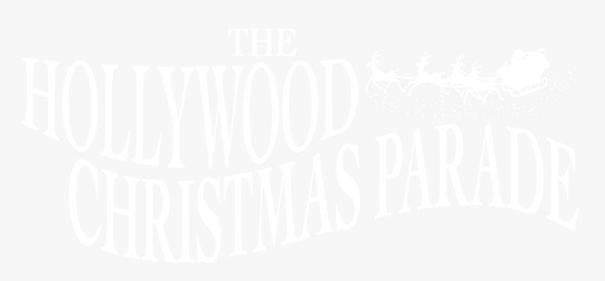 Transparent Hollywood Sign Png - Hollywood Christmas Parade, Png Download, Free Download