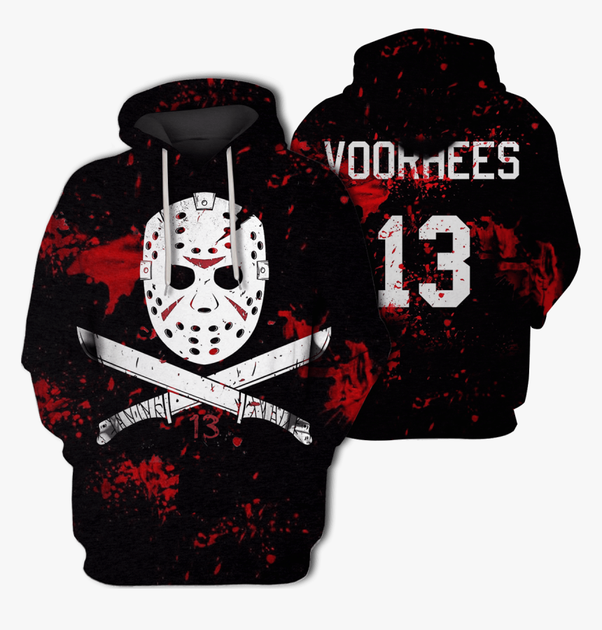 3d Jason Voorhees Friday The 13th Hoodie - Jason Mask Tattoo Outline, HD Png Download, Free Download