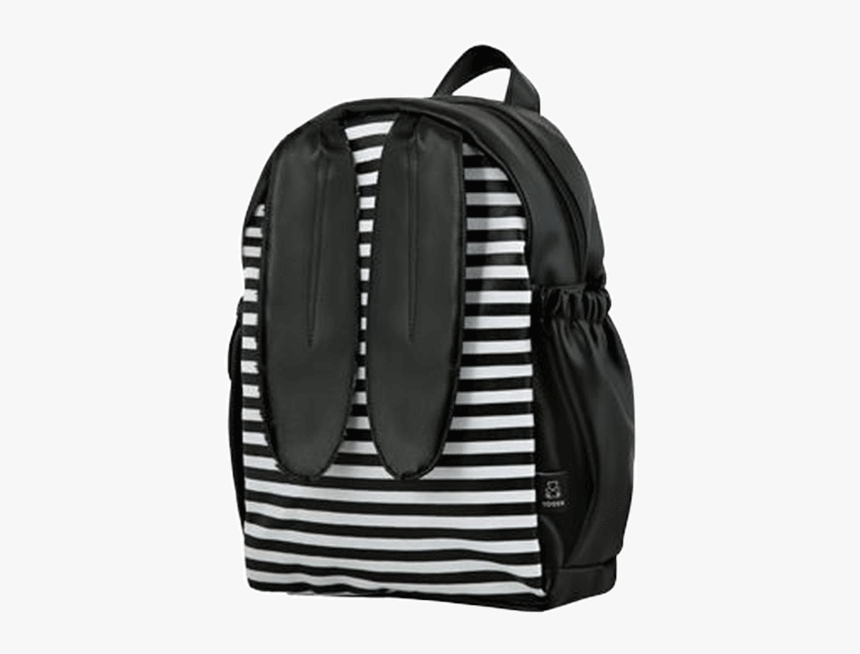 Black Bunny Ears & Stripes Backpack - Bunny And Stripes Bag, HD Png Download, Free Download