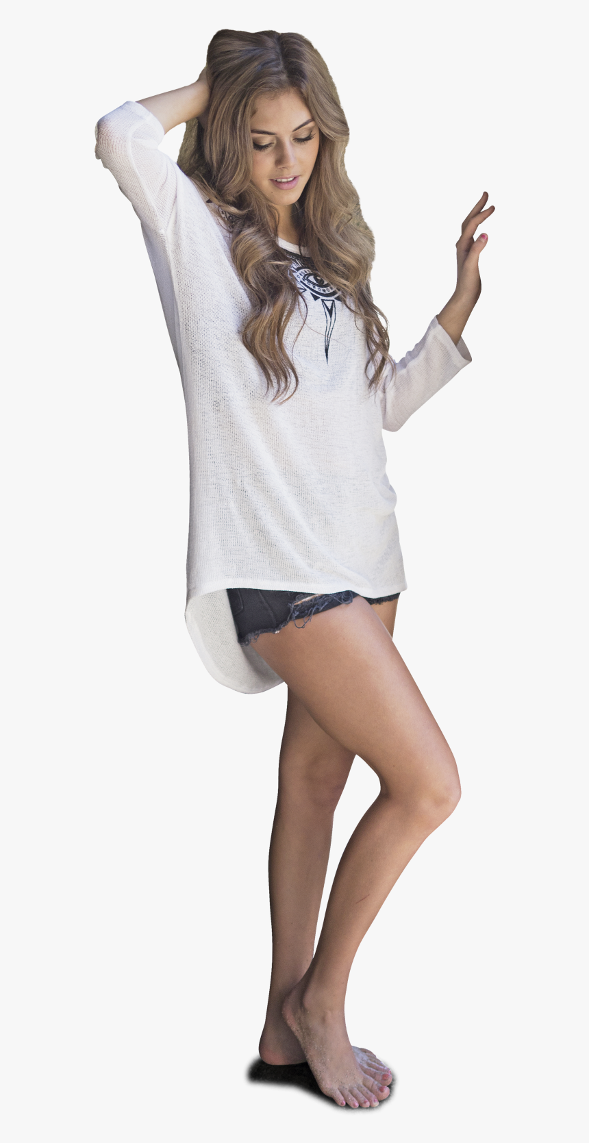 Woman Model Standing In Beautiful Pose Beautiful Girl Pose Transparent Background Hd Png Download Kindpng