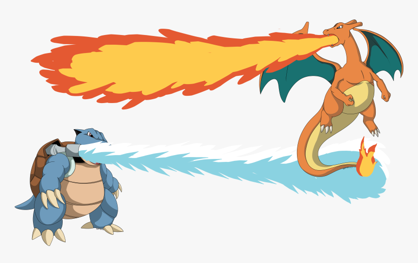 Blastoise Vs Charizard Commission - Drawing Of Blastoise, HD Png Download, Free Download
