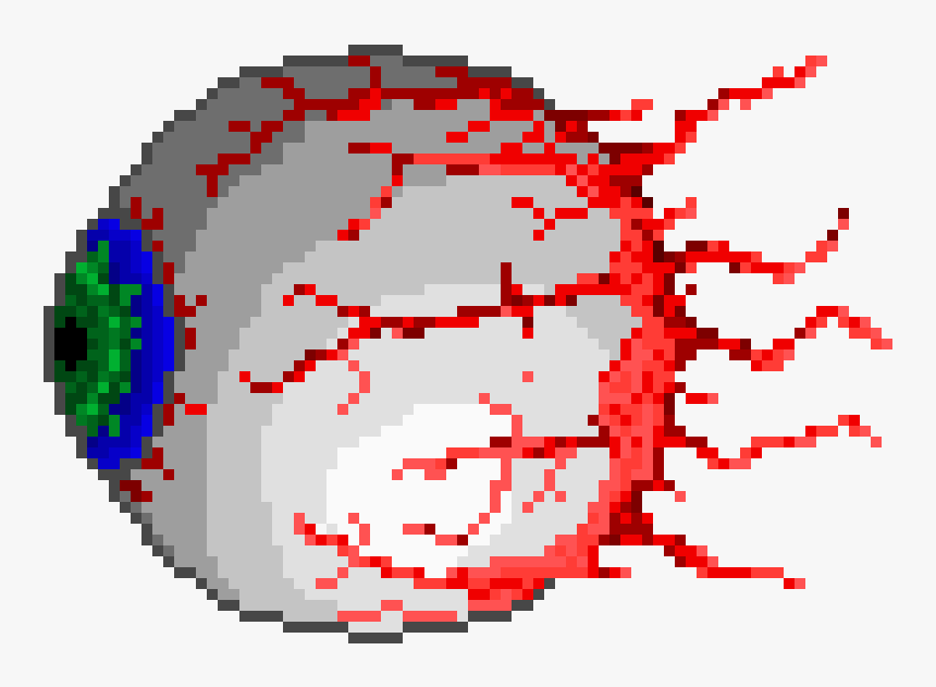 Eye Of Cthulhu - Terraria Eye Of Cthulhu Pixel Art, HD Png Download, Free Download