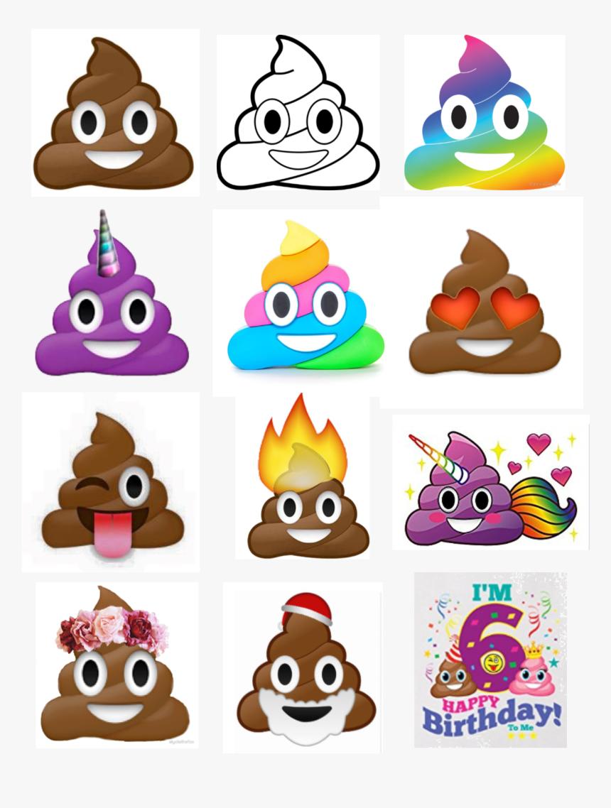 Rainbow Poop Emoji Stickers, HD Png Download, Free Download
