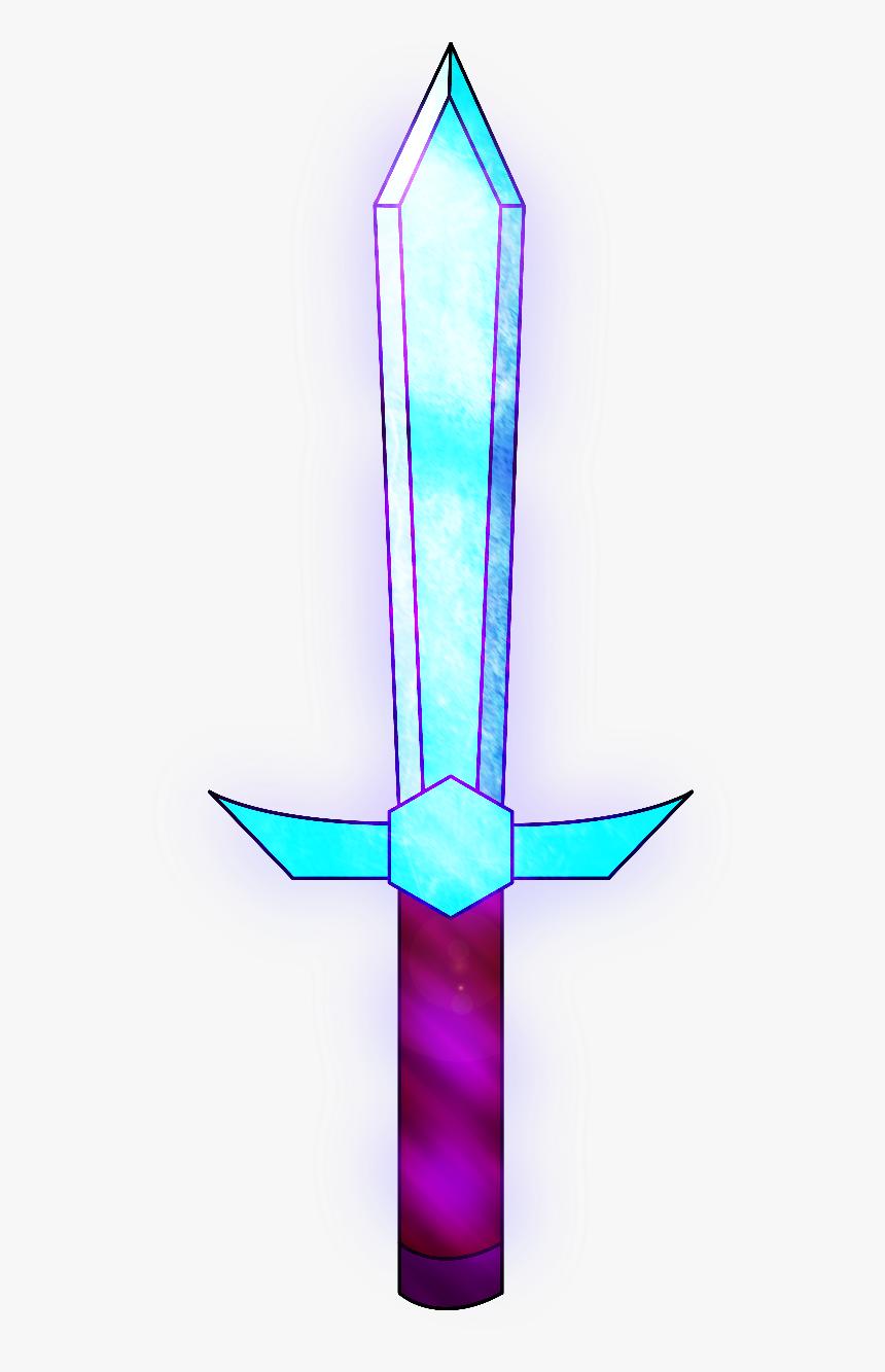 Enchanted Minecraft Diamond Sword Hd Png Download Kindpng