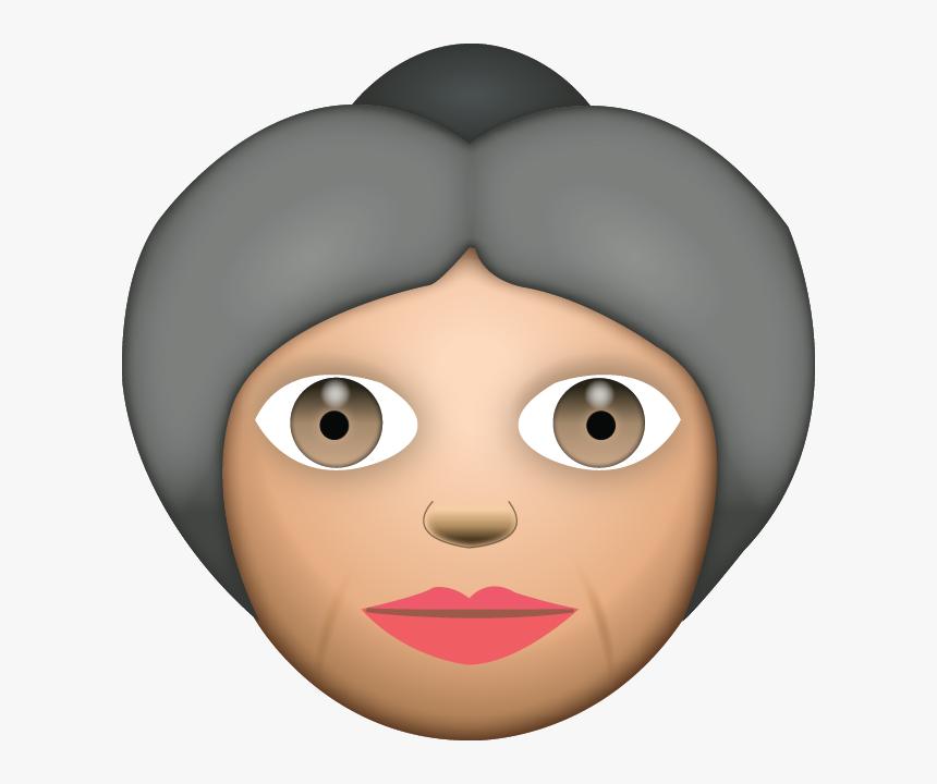 Grandma Clipart Emoji - Grandma And Grandpa Emojis, HD Png Download, Free Download
