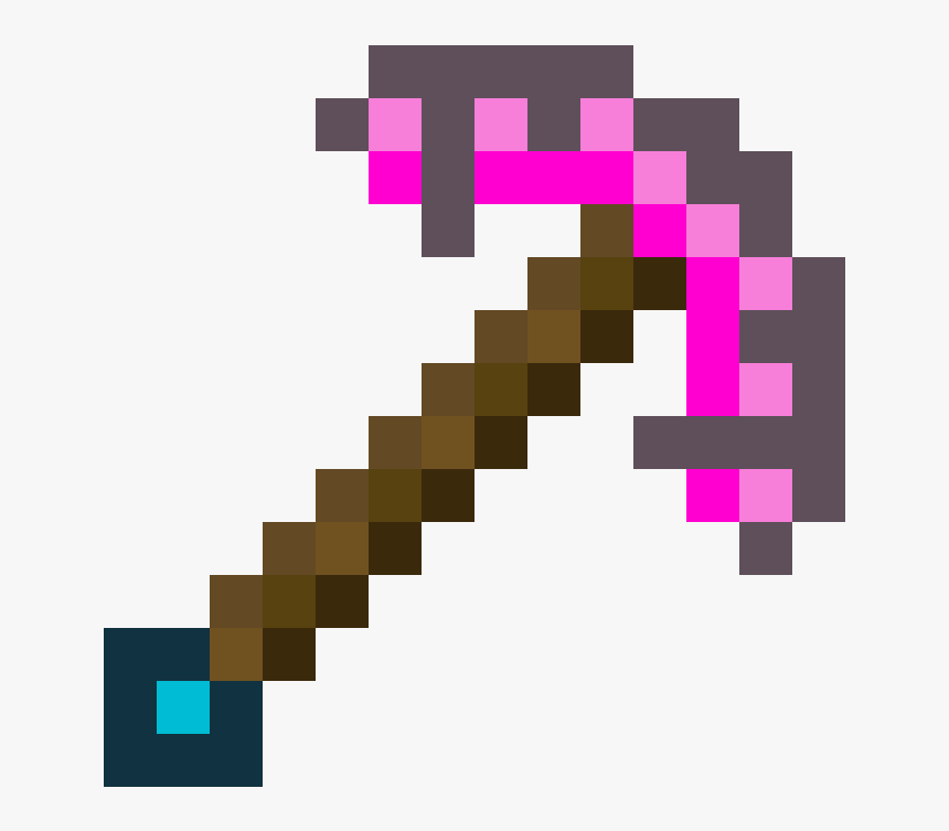 Transparent Pick Axe Clipart - Minecraft Pickaxe Transparent, HD Png Download, Free Download