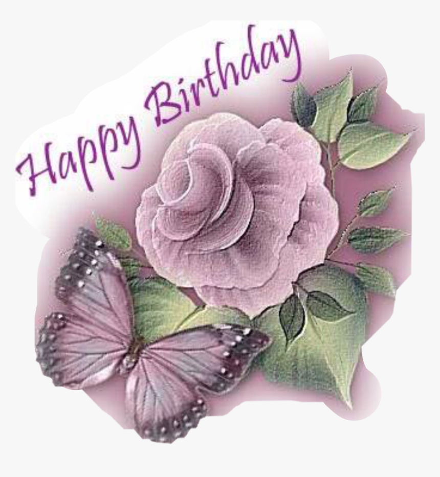 Transparent Birthday Flowers Clipart Happy Birthday Flower Butterfly Hd Png Download Kindpng