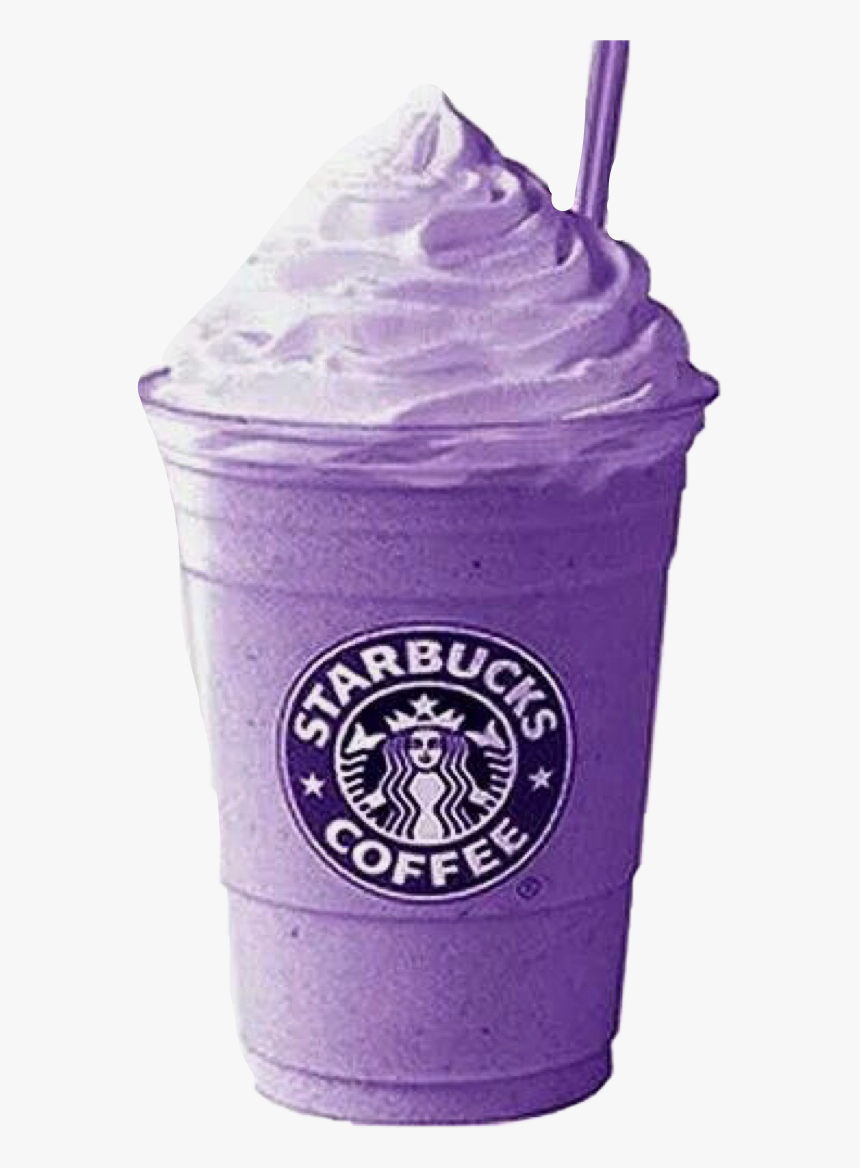 #purple #shake #cold #starbucks #drink #whippedcream - Transparent Purple Starbucks Drink, HD Png Download, Free Download