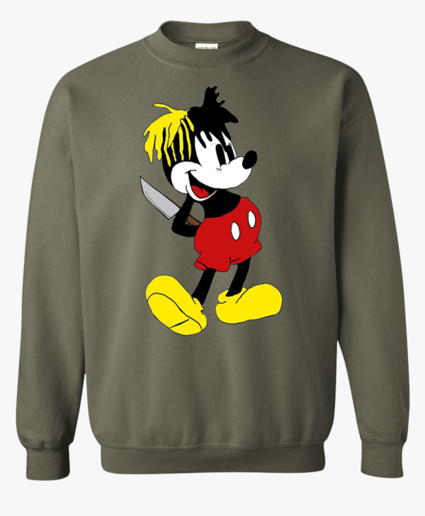 """Xxxtentacion Mickey Mouse Sweater""""  Class= - Funny Music Note Shirt, HD Png Download, Free Download"""