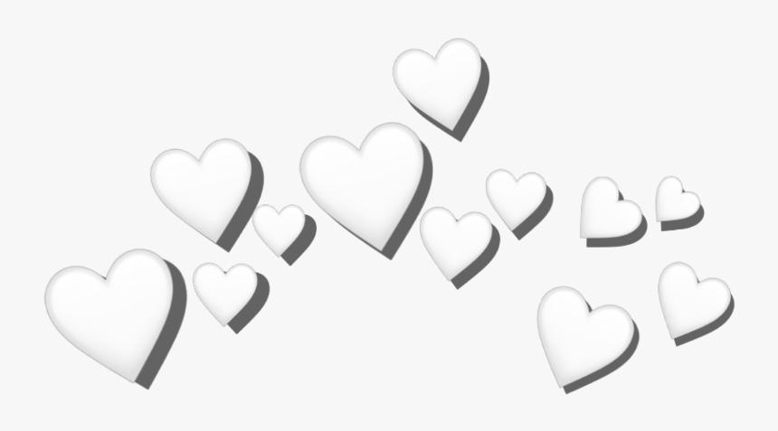 #whiteheart #heart #crown #whitecrown #whiteheartcrown - White Heart Crown Png, Transparent Png, Free Download