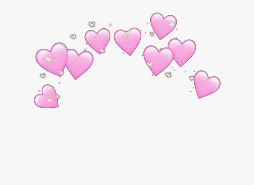 #pink #heart #crown #heartcrown #hearts #wallpaper - Emoji Heart Crown Png, Transparent Png, Free Download