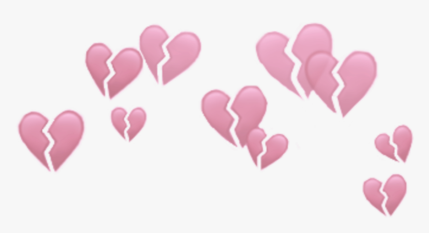 Hearts Heart Brokenheart Broken Crowns Crown Heartcrown - Transparent Broken Heart Crown, HD Png Download, Free Download