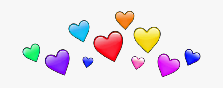 #freeetoedit #heart #crown #heartcrown #colors #rainbow - Heart Crown Png Rainbow, Transparent Png, Free Download