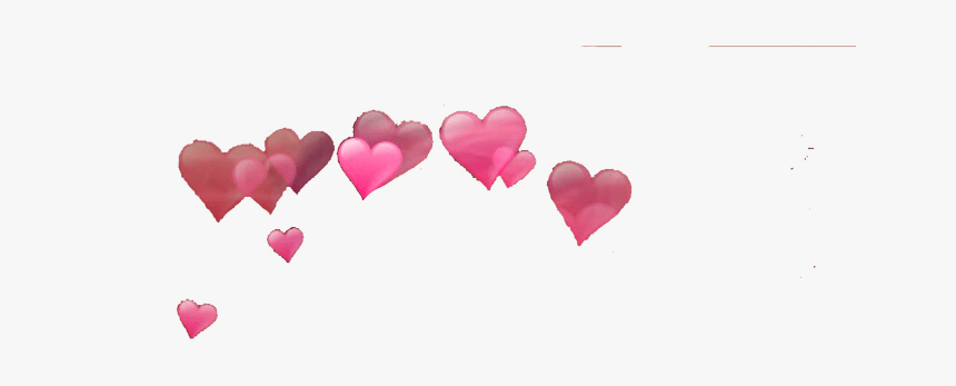 Photobooth Hearts Png - Heart Effects On Head, Transparent Png, Free Download