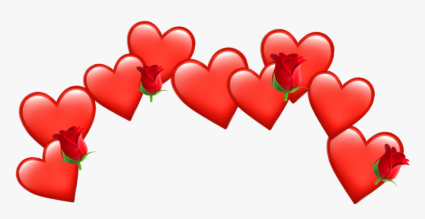 Crown Heart Tumblr Emoji Red Aesthetic Emoji Crown - Red Heart Crown Png, Transparent Png, Free Download