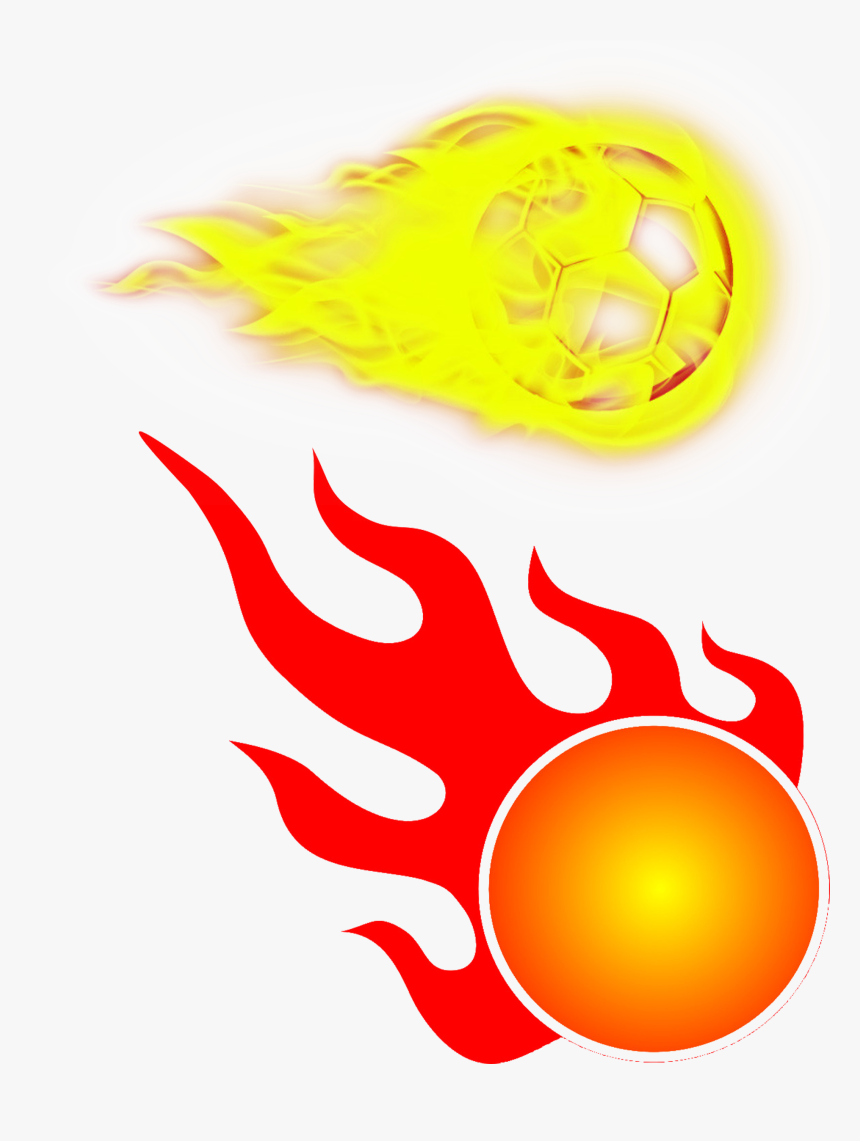 Transparent Flame Circle Png - Football Fire Free Vector, Png Download, Free Download