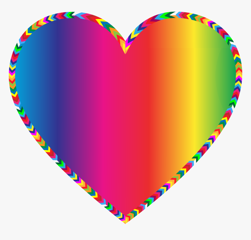 Multi Color Exploding Heart Clipart - Hearts Borders And Frames, HD Png Download, Free Download