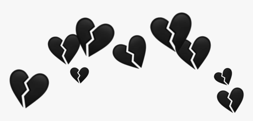 #blackheartcrown #heartcrown #black #heart #crown - Broken Heart Crown Png, Transparent Png, Free Download