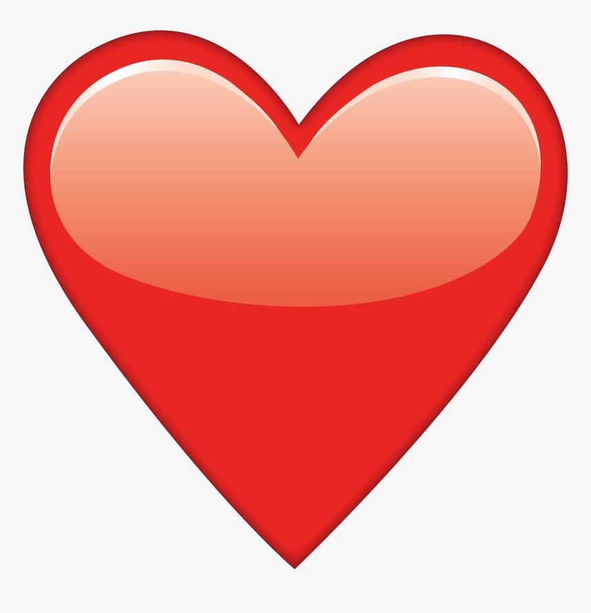 Red Heart Emoji - Red Heart Emoji Png, Transparent Png, Free Download