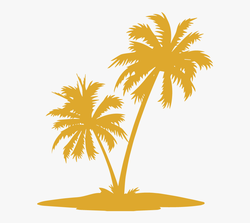 Palm Trees Vector Graphics Clip Art Illustration Image - Coconut Tree Vector Png, Transparent Png, Free Download