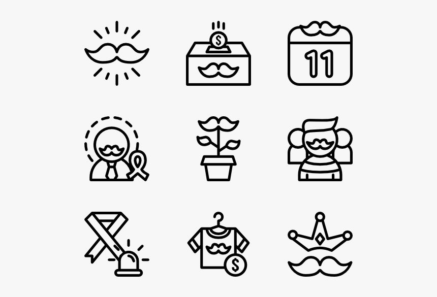 Movember - Work Icon, HD Png Download, Free Download