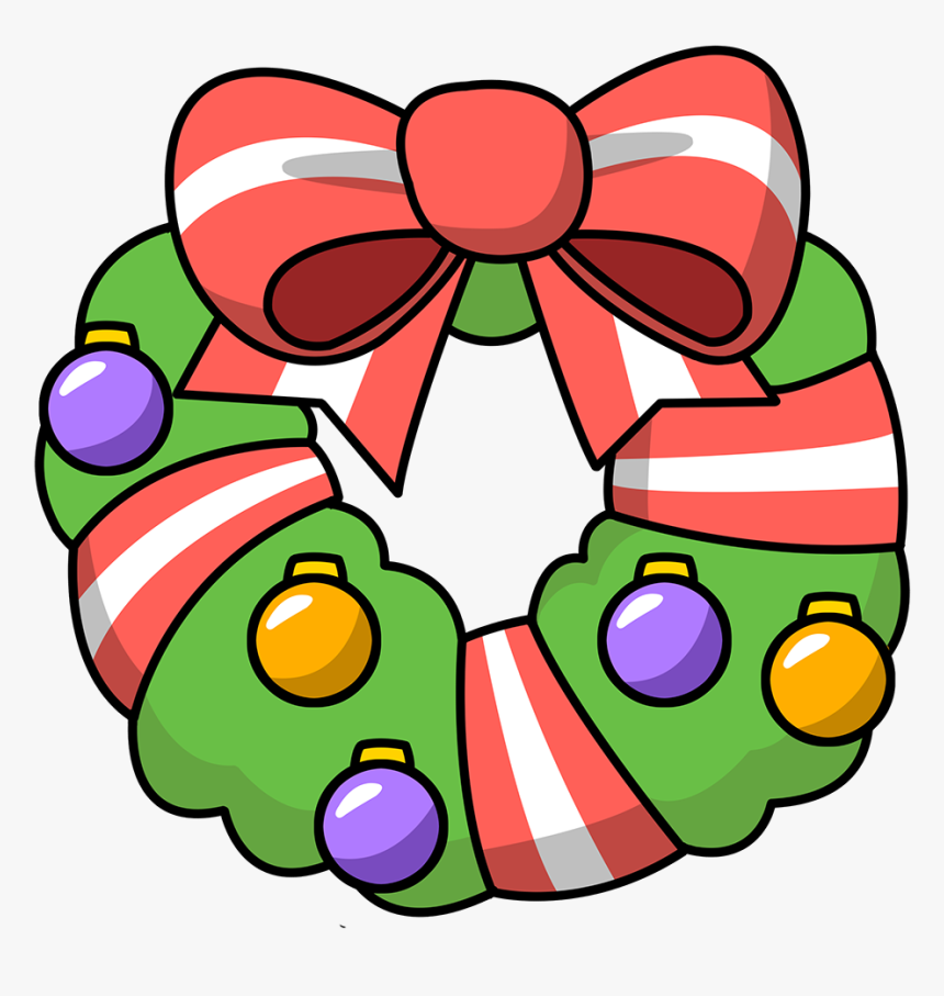 Wreath Clipart Christmas Garland Free Images Image Christmas Wreath Cartoon Png Transparent Png Kindpng