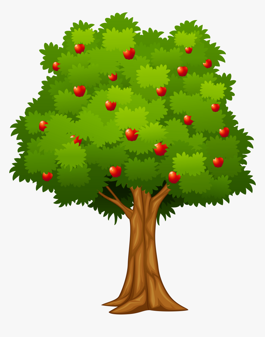 Yellow Clipart Apple Tree Hd Png Download Kindpng