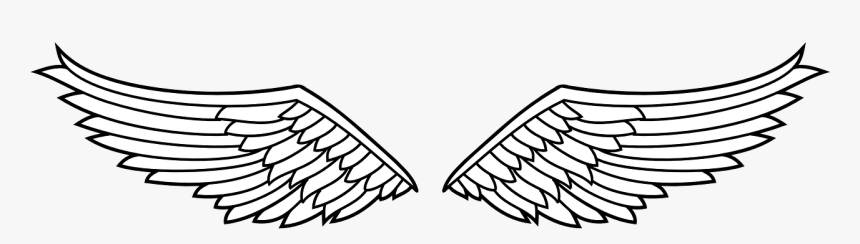 Transparent Winged Shield Clipart - Eagle Wings Clipart Black And White, HD Png Download, Free Download