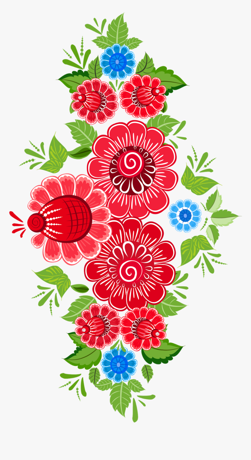 Clip Art Mexican Flower Pattern - Mexican Flower Clipart Png, Transparent Png, Free Download