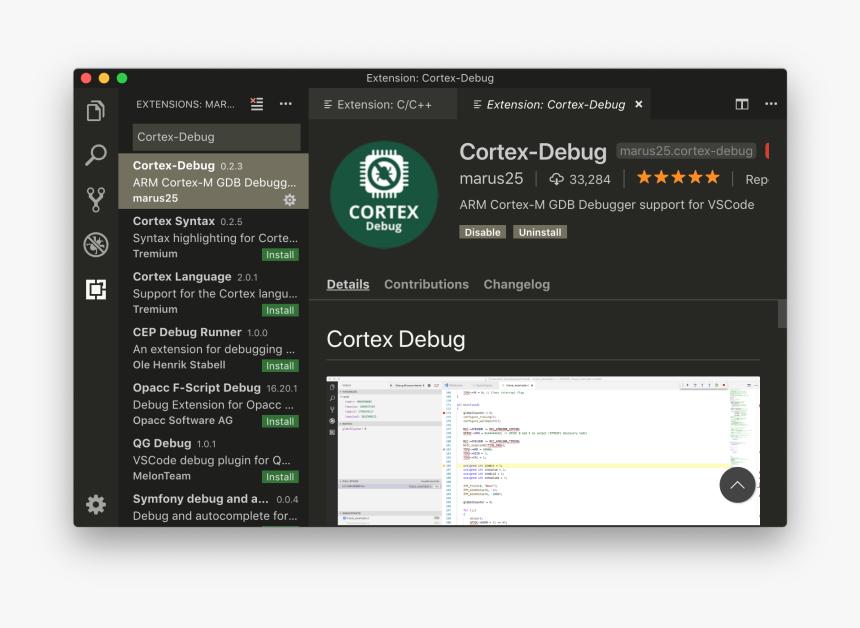 Cortex-debug Extension - Nrf52 Debug Visual Studio Code, HD Png Download, Free Download