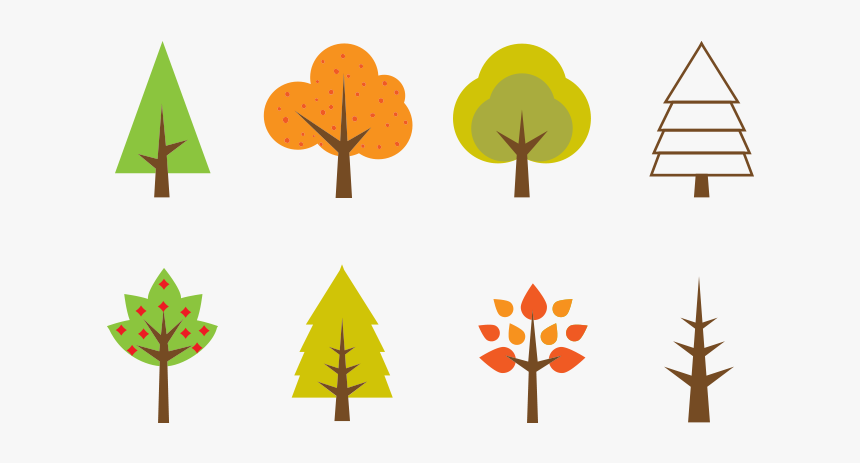 Seasonal Tree Illustration Free Vector And Png The - Simple Tree Illustration Png, Transparent Png, Free Download