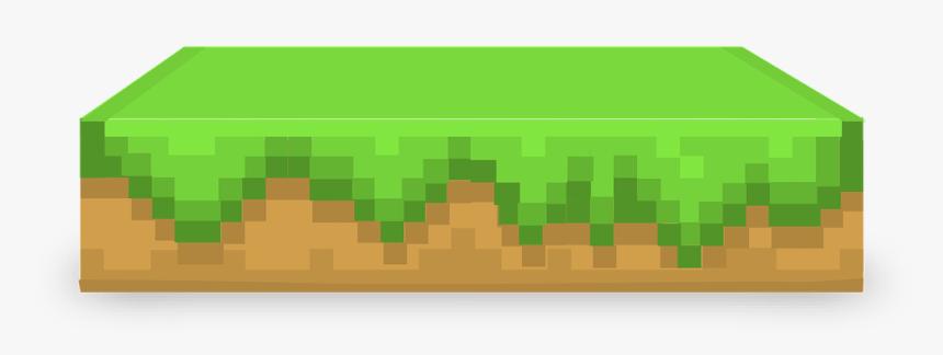 Minecraft, Table, Block, Element, Grass, Patch, Design - Transparent Background Minecraft Ground, HD Png Download, Free Download