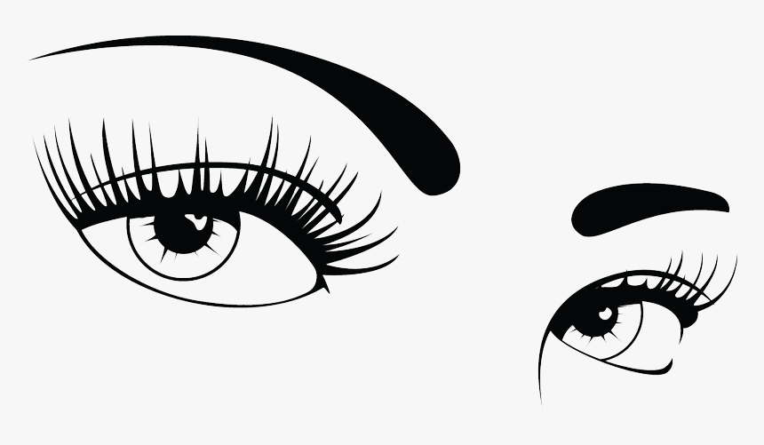 Eyes Png Transparent - Eyes With Lashes Clipart, Png Download, Free Download