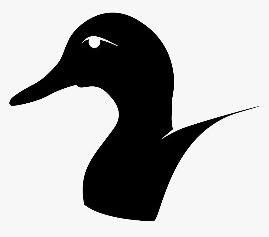 Donald Duck Mallard Daisy Duck Goose - Duck Head Silhouette, HD Png Download, Free Download