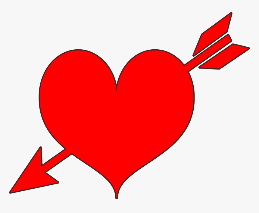 Hearts With Arrow Clipart, HD Png Download, Free Download