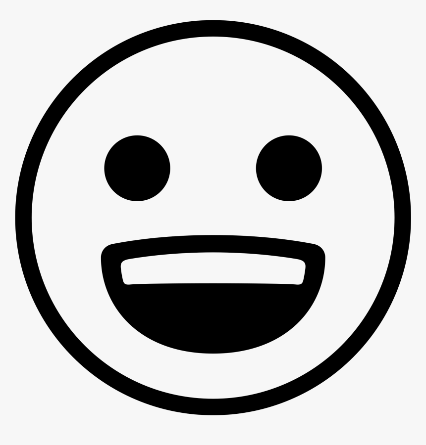 Transparent Drawn Smiley Face Png - Smiley Souriant Noir Et Blanc, Png Download, Free Download